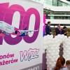 Wizzair świętuje na Lotnisku Chopina obsługę 100 milionowego pasażera