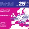 Wizz Air otwiera 25. bazę. Tym razem jest to Kutaisi w Gruzji