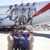Linie Emirates prezentują nową kalkomanię Realu Madryt na kadłubie samolotu A380