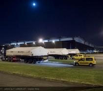 Beluga XL w drodze; Konwój z pierwszymi dużymi sekcjami przybywa do hangaru montażu końcowego w Tuluzie
