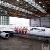Wizerunek Roberta Lewandowskiego na samolocie Airbus A340-600 Lufthansy