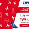 Wielka promocja w LOT! Ceny już od 199 PLN na loty po Europie oraz od 1769 zł na loty do Azji i Ameryki Północnej!