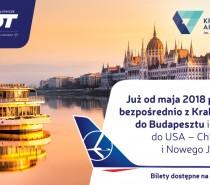 LOT stawia na Kraków. Nowe połączenie do Budapesztu i więcej rejsów do Chicago!