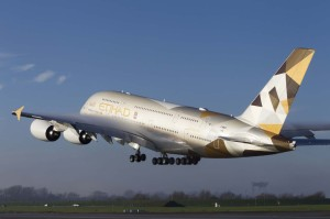 A380 Etihad MSN166 first flight