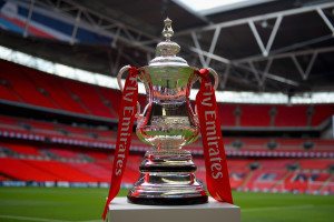LONDON, ENGLAND - MAY 30: A view of the FA Cup trophy following the announcement that Emirates will be lead partner and title sponsor for the next three years prior to the FA Cup Final between Aston Villa and Arsenal at Wembley Stadium on May 30, 2015 in London, England.  (Photo by Michael Regan - The FA/The FA via Getty Images)
