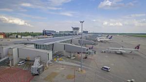 Lotnisko Chopina. Fot. Łukasz Widziszowski